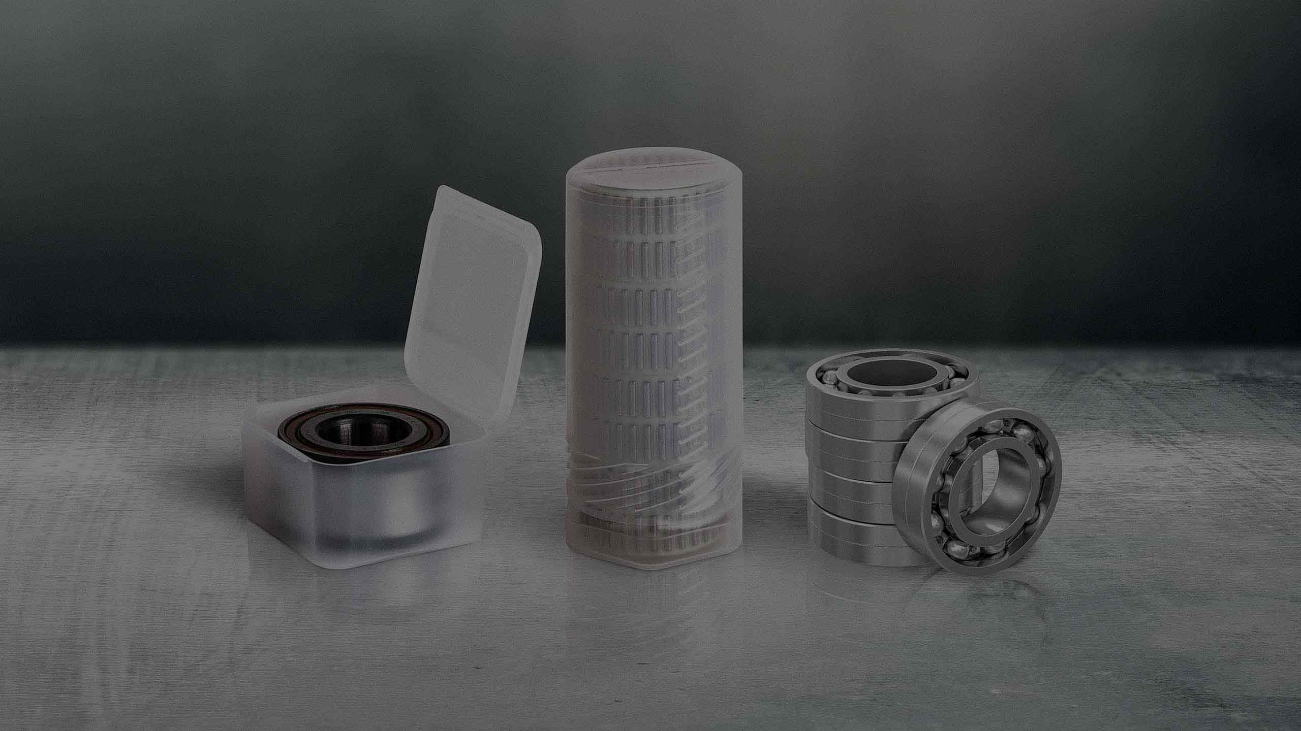 Our plastic packaging solutions protect your bearings optimally.