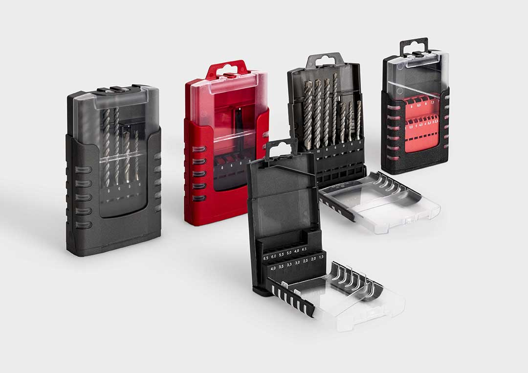 GripBox: a sturdy cassette in modern design ideal for all sets of drills.